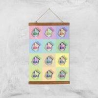 Multi Colour Sexy Lips Break Through Giclée Art Print - A3 - Wooden Hanger - Sexy Gifts