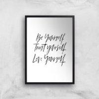 PlanetA444 Be Yourself Art Print - A4 - Black Frame