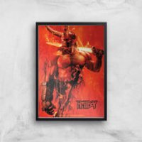 Hellboy Son Of The Fallen One Art Print - A4 - Black Frame - Son Gifts