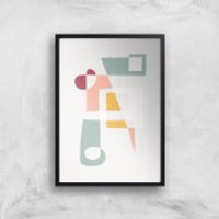 Get Into Shape Giclée Art Print - A2 - White Frame