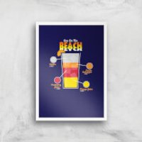 Infographic Sex On The Beach Art Print - A4 - White Frame - Sex Gifts