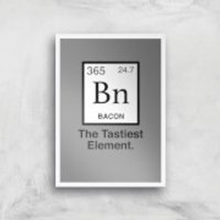 Bacon Element Art Print - A4 - White Frame - Bacon Gifts