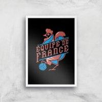 Equipe De France Art Print - A4 - White Frame - France Gifts
