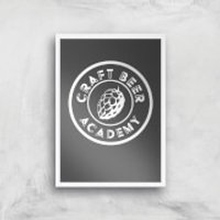 Craft Beer Academy Art Print - A4 - White Frame - Craft Gifts