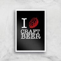 I Hop Craft Beer Art Print - A4 - White Frame - Craft Gifts