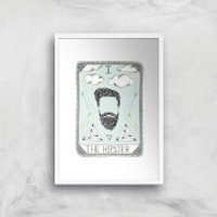 The Hipster Art Print - A4 - White Frame - Hipster Gifts