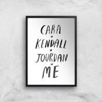 Rock On Ruby Cara Kendall Jourdan Me Art Print - A4 - Black Frame