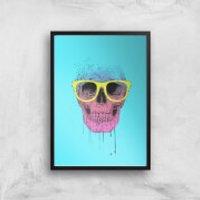 Balazs Solti Skull and Glasses Art Print - A4 - Black Frame - Glasses Gifts