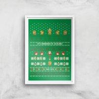 Nintendo It's Dangerous To Go Alone Art Print - A4 - White Frame - Nintendo Gifts