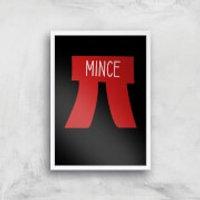 Mince Pi Art Print - A4 - White Frame
