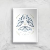 Fairy Dance Art Print - A4 - White Frame - Fairy Gifts