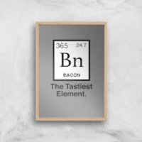Bacon Element Art Print - A4 - Wood Frame - Bacon Gifts