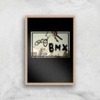 BMX Jump Art Print - A4 - Wood Frame - Bmx Gifts