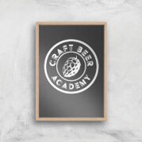Craft Beer Academy Art Print - A4 - Wood Frame - Craft Gifts