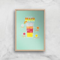 Infographic Sex On The Beach Art Print - A4 - Wood Frame - Beach Gifts