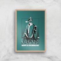 St. Patricks Day Art Print - A4 - Wood Frame - St Patricks Day Gifts