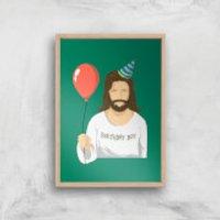 Birthday Boy Art Print - A4 - Wood Frame