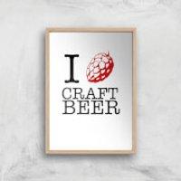 I Hop Craft Beer Art Print - A4 - Wood Frame - Craft Gifts