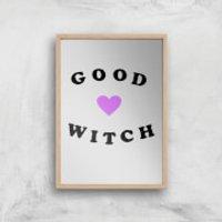 Good Witch Art Print - A4 - Wood Frame