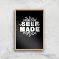 Self Made Art Print - A4 - Wood Frame
