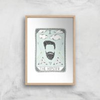 The Hipster Art Print - A4 - Wood Frame - Hipster Gifts