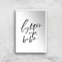 PlanetA444 Lighten Up, Babe Art Print - A4 - White Frame