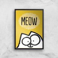 Simons Cat Giclée Art Print - A4 - Black Frame - Cat Gifts