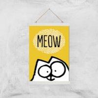 Simons Cat Giclée Art Print - A3 - White Hanger - Cat Gifts