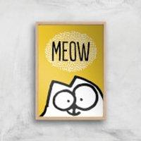Simons Cat Giclée Art Print - A3 - Wooden Frame - Cat Gifts