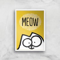 Simons Cat Giclée Art Print - A2 - White Frame - Cat Gifts
