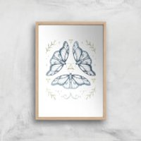 Fairy Dance Art Print - A4 - Wood Frame - Fairy Gifts