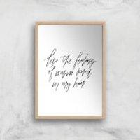 PlanetA444 The Feeling Of Warm Wind In My Hair Art Print - A4 - Wood Frame - Warm Gifts