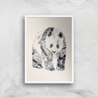 Tobias Fonseca Tattooed Panda Art Print - A4 - Wood Frame