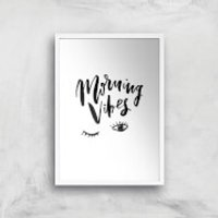 PlanetA444 Morning Vibes Art Print - A4 - Wood Frame