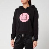 Armani Exchange Women's Smiley Logo Hoodie - Black - XS
