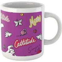 Simons Cat Cattitude White 11oz Mug