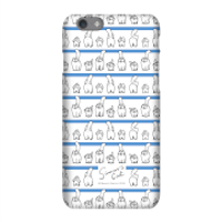 Simons Cat Lined up Cats Phone Case for iPhone and Android - iPhone 8 Plus - Snap Case - Matte