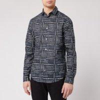 Emporio Armani Men's All Over Print Shirt - Blue - XL