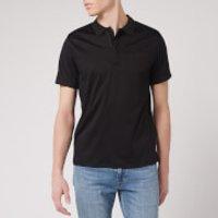 Emporio Armani Men's Zip Collar Polo Shirt - Black - S