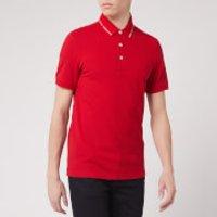 Emporio Armani Men's Collar Logo Polo Shirt - Red - XXL