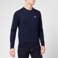 Emporio Armani Men's Small Eagle Knitted Jumper - Navy - L