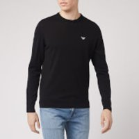 Emporio Armani Men's Small Eagle Knitted Jumper - Black - XL