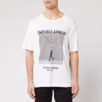 Emporio Armani Men's Large Photo Logo T-Shirt - White - L