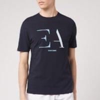 Emporio Armani Men's Gradiated Logo T-Shirt - Navy - L