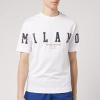 Emporio Armani Men's Foil Logo T-Shirt - White - M