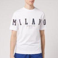 Emporio Armani Men's Foil Logo T-Shirt - White - L