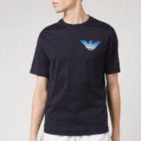 Emporio Armani Men's Small Chest Gradient Logo T-Shirt - Navy - M