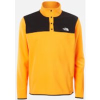 The North Face Men's Tka Glacier Snap Neck Pullover Jumper - Flame Orange/TNF Black - M