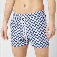 Frescobol Carioca Men's Copacabanana Sports Swim Shorts - Navy Blue - L