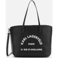 shop for Karl Lagerfeld Women's Rue St Guillaume Tote Bag - Black at Shopo